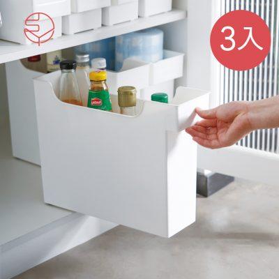 SHIMOYAMA_11CM面寬廚櫃隙縫多功能收納盒(附輪)-3入-1