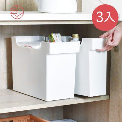 SHIMOYAMA_16.5CM面寬廚櫃隙縫多功能收納盒(附輪)-3入-1