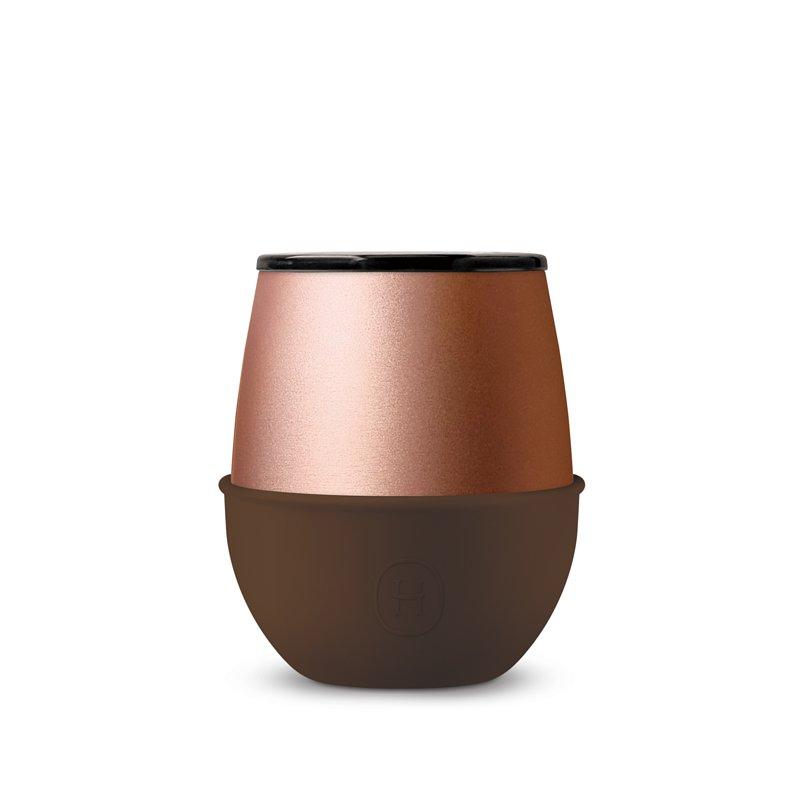 美國 HYDY Delicia 雙層隨行保溫杯 蛋型杯 雪松 (摩卡) 240ml