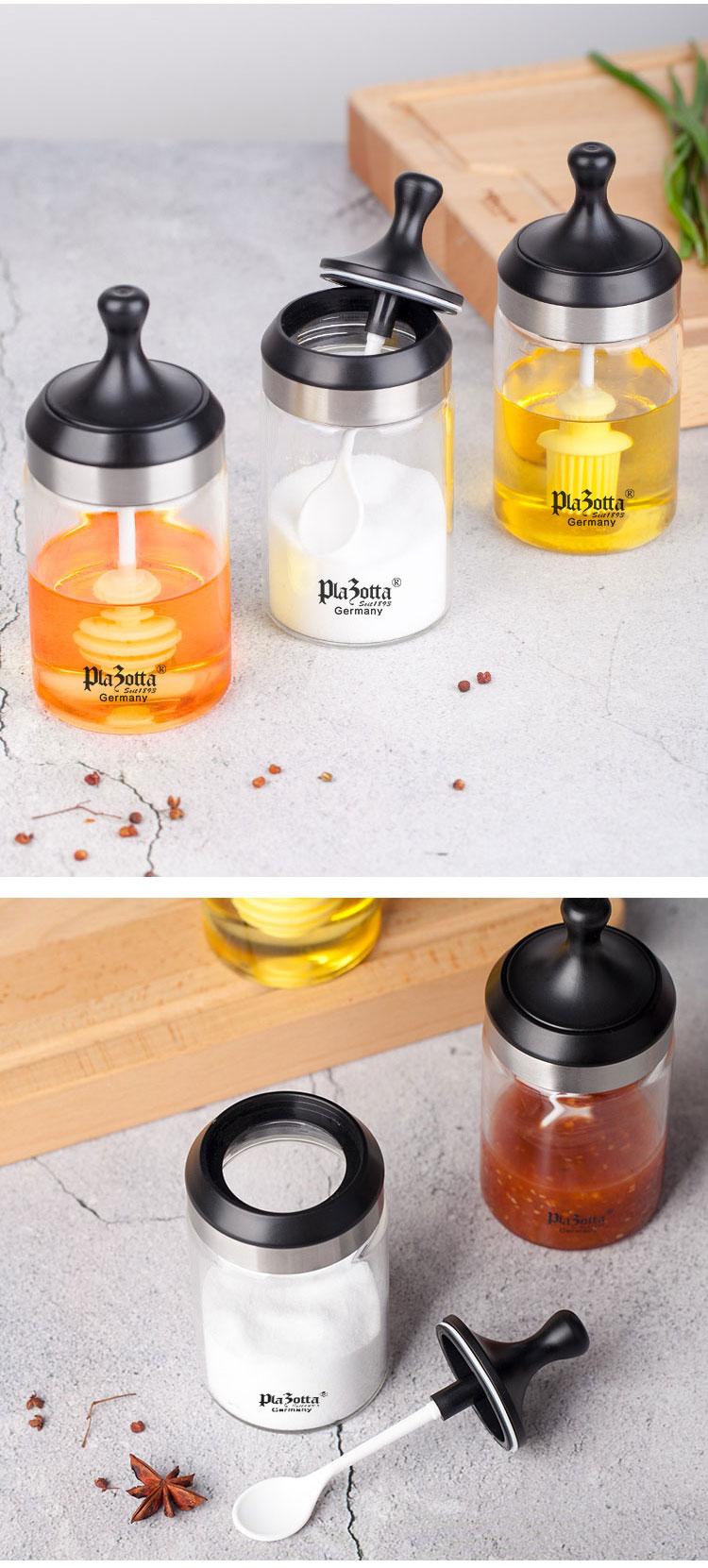 德國 Plazotta 高硼矽玻璃調味罐 (3款)