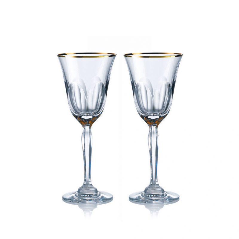 歐洲 ROGASKA 水晶玻璃 AULIDE GOLD 金色歐雷帝 紅酒杯 2支裝
