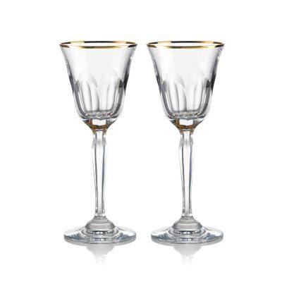 歐洲 ROGASKA 水晶玻璃 AULIDE GOLD 金色歐雷帝 白酒杯 2支裝