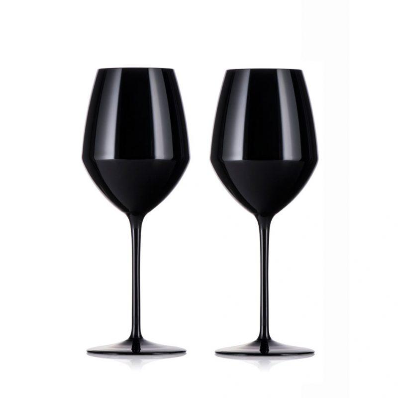 歐洲 ROGASKA 水晶玻璃 EXPERT 行家品味 白酒杯(黑) 2支裝