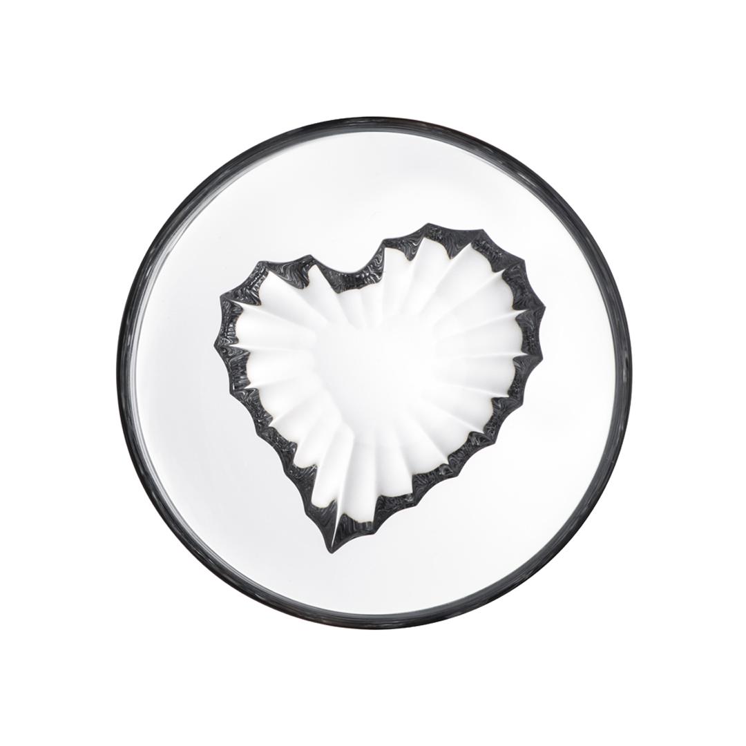 歐洲 ROGASKA 水晶玻璃 LIVE.LOVE.SPARKLE 璀璨生活 愛心碗 12cm