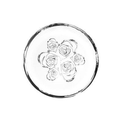 歐洲 ROGASKA 水晶玻璃 LIVE.LOVE.SPARKLE 璀璨生活 玫瑰碗 12cm