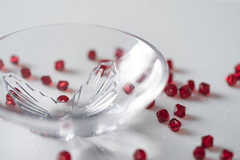 歐洲 ROGASKA 水晶玻璃 LIVE.LOVE.SPARKLE 璀璨生活 蝴蝶碗