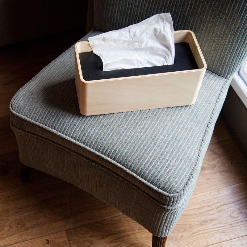 日本 Lemnos STOCK 木質面紙盒 (白)