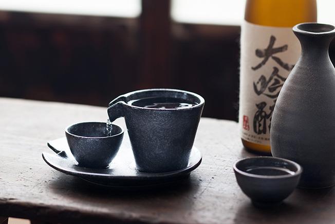 日本 美濃燒 流水冷酒器組