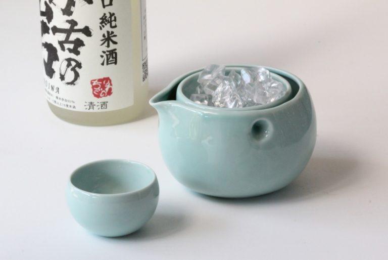 日本 美濃燒 搖搖酒器組 (一壺兩杯)