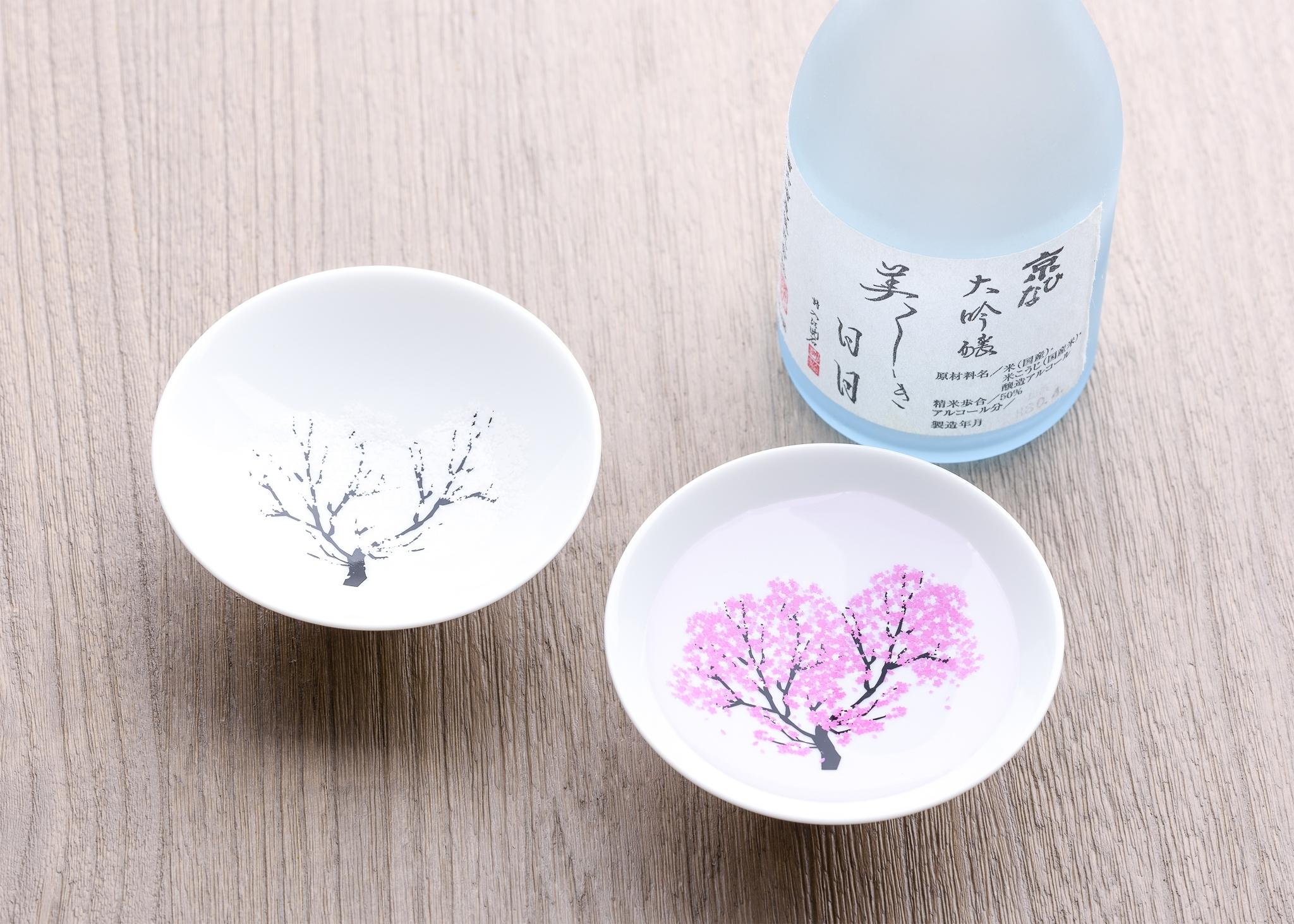 日本 高木陶器 櫻滿開冷感白平杯組 (一組2入)