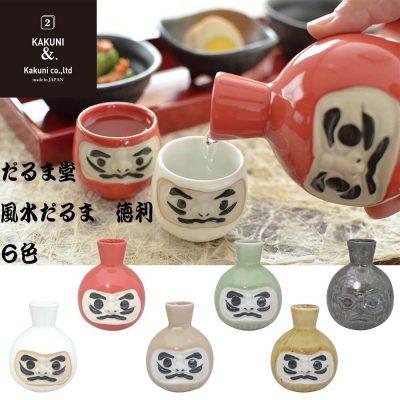 日本 美濃燒 達摩酒壺 (四色可選)