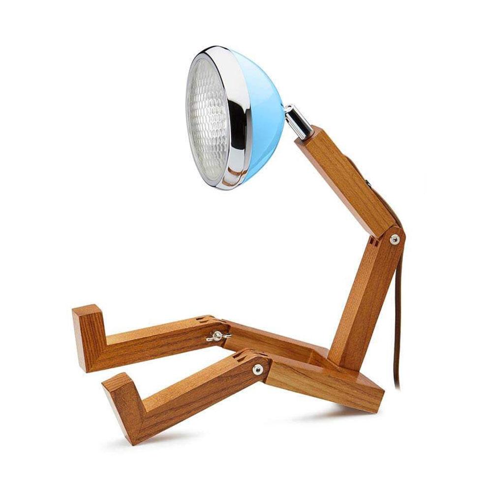 Soyee 梣木 LED 機器人桌燈 (哈瓦那藍)