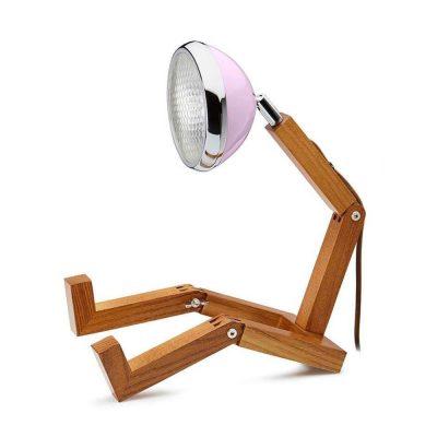 Soyee 梣木 LED 機器人桌燈 (山茶花粉)
