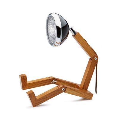 Soyee 梣木 LED 機器人桌燈 (時尚黑)