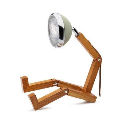 Soyee 梣木 LED 機器人桌燈 (沙漠綠)