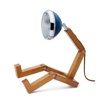 Soyee 梣木 LED 機器人桌燈 (海軍藍)