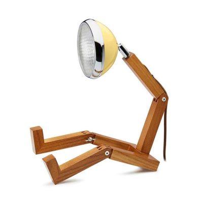 Soyee 梣木 LED 機器人桌燈 (萊姆黃)