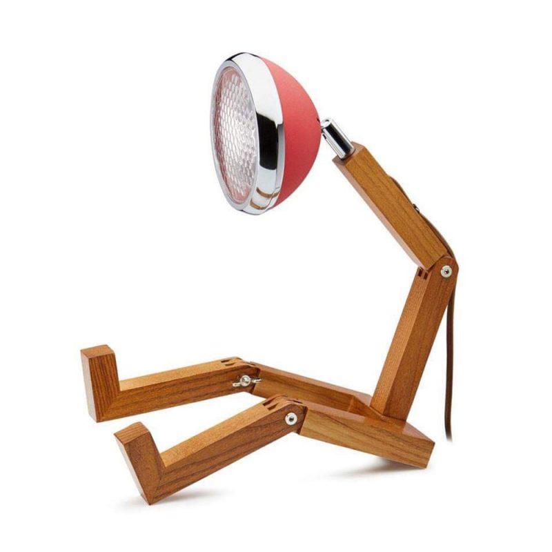 Soyee 梣木 LED 機器人桌燈 (霧面夢想紅)