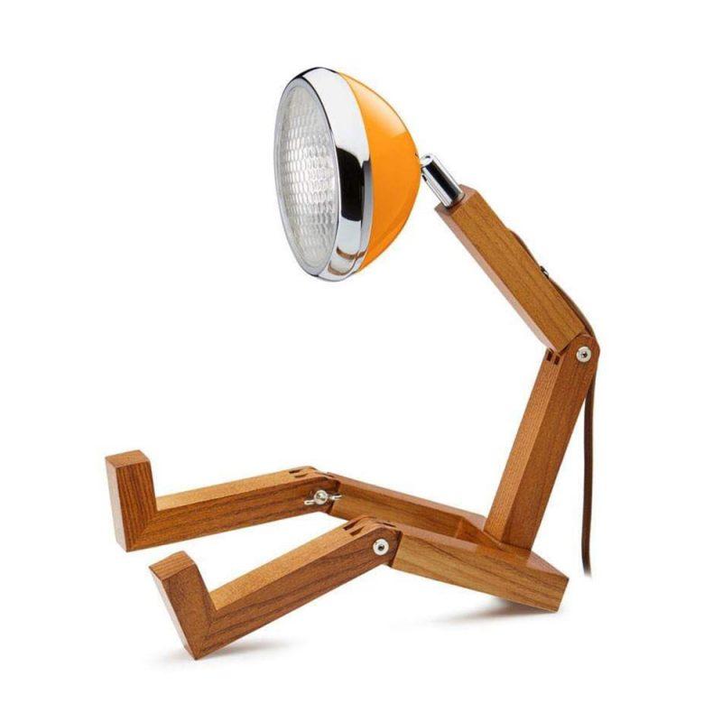 Soyee 梣木 LED 機器人桌燈 (麥拉倫橘)