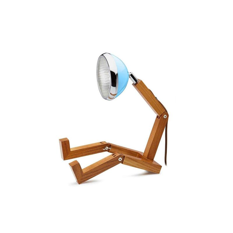 Soyee 梣木 MINI-LED 迷你機器人桌燈 (哈瓦那藍)