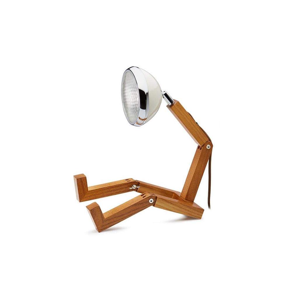Soyee 梣木 MINI-LED 迷你機器人桌燈 (復古白)
