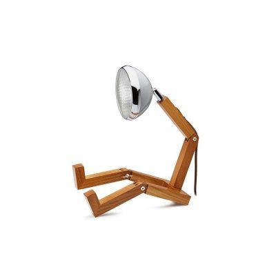 Soyee 梣木 MINI-LED 迷你機器人桌燈 (水泥灰)