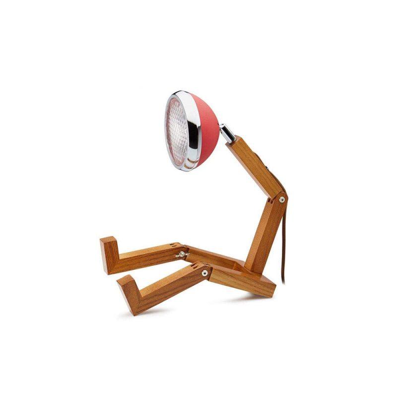 Soyee 梣木 MINI-LED 迷你機器人桌燈 (霧面夢想紅)