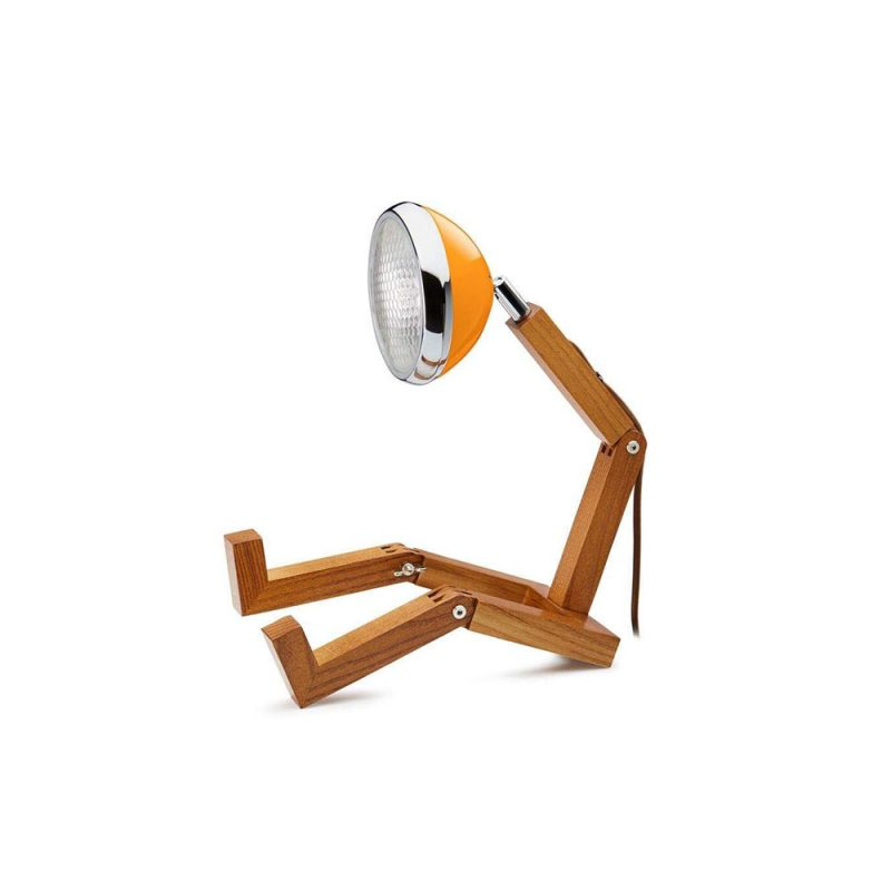 Soyee 梣木 MINI-LED 迷你機器人桌燈 (麥拉倫橘)