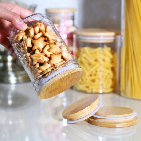 Ball 梅森罐專用 天然竹蓋 (寬口)