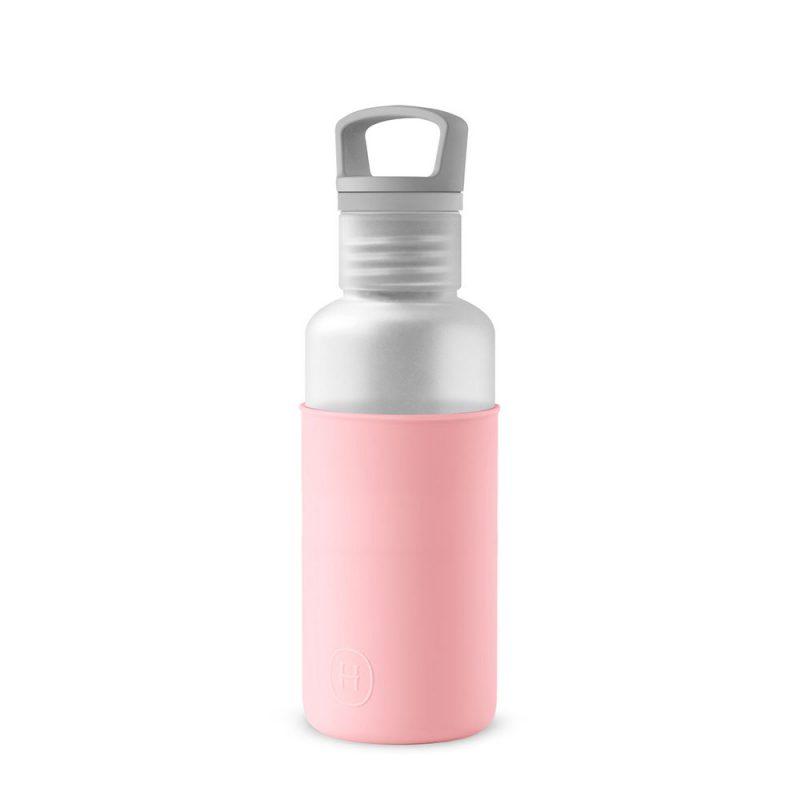 美國 HYDY 輕靚系列 透明冷水瓶 590ml 霧白瓶 (玫瑰粉)