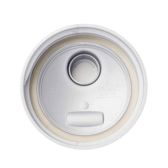 美國 reCAP 升級版 飲料隨行杯蓋 (寬口-白)