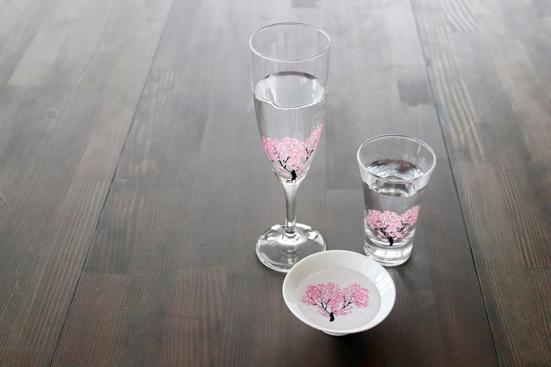 日本 高木陶器 櫻滿開 香檳杯 遇冷變色