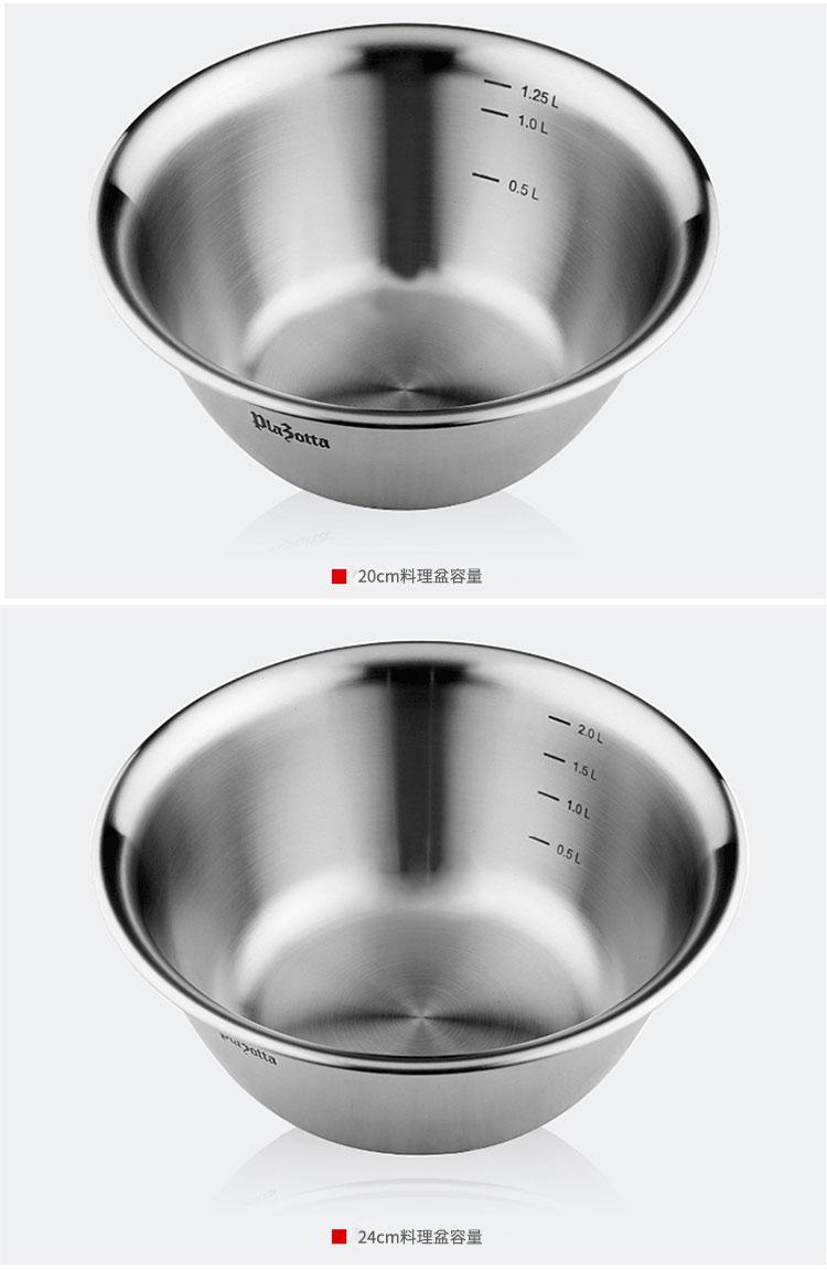 德國 Plazotta 304不鏽鋼加厚洗菜盆 (三件組)