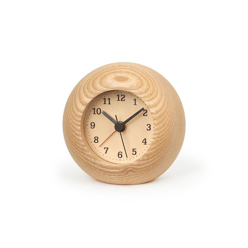 日本 Lemnos Rest 圓形 鬧鐘 (原木)