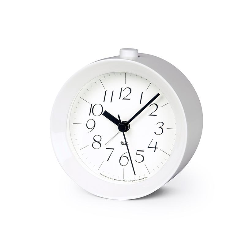 日本 Lemnos 渡邊力 Riki Alarm 鬧鐘 (鋼琴白)