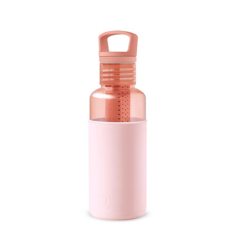 美國 HYDY 輕靚系列 透明冷水瓶 590ml 桃橘瓶 (櫻花粉)