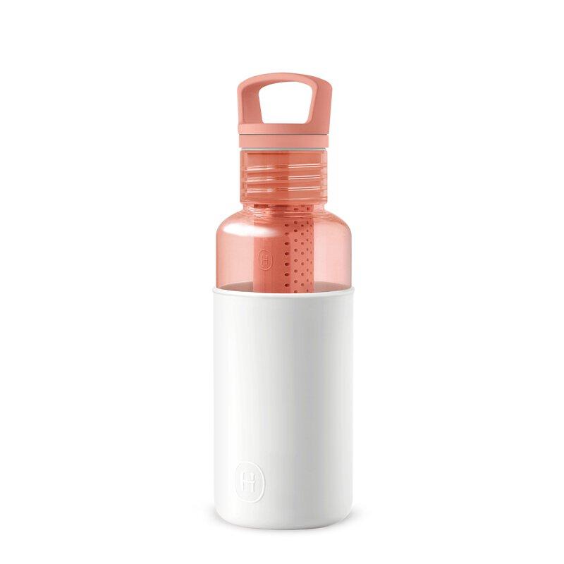 美國 HYDY 輕靚系列 透明冷水瓶 590ml 桃橘瓶 (雪白)