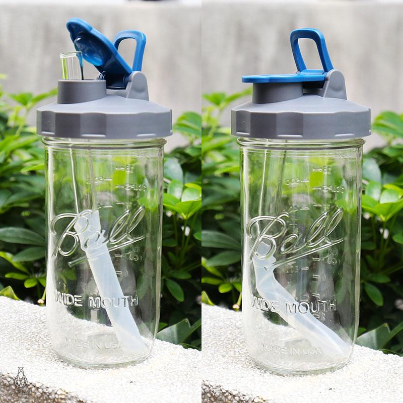 BLR Soligt 24oz梅森玻璃罐 提把飲料杯提袋組