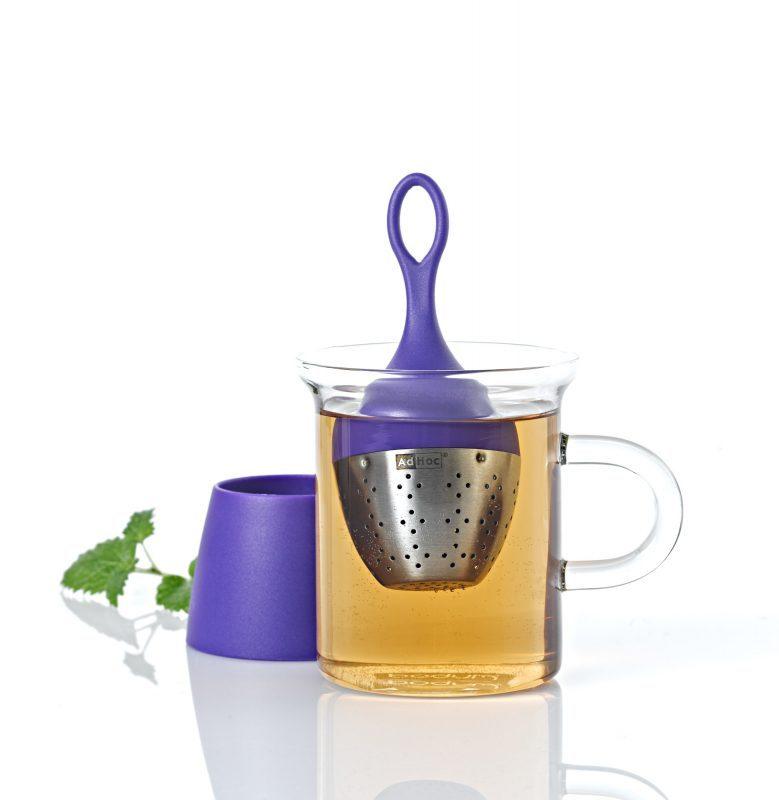 AdHoc 漂浮濾茶器 (紫)