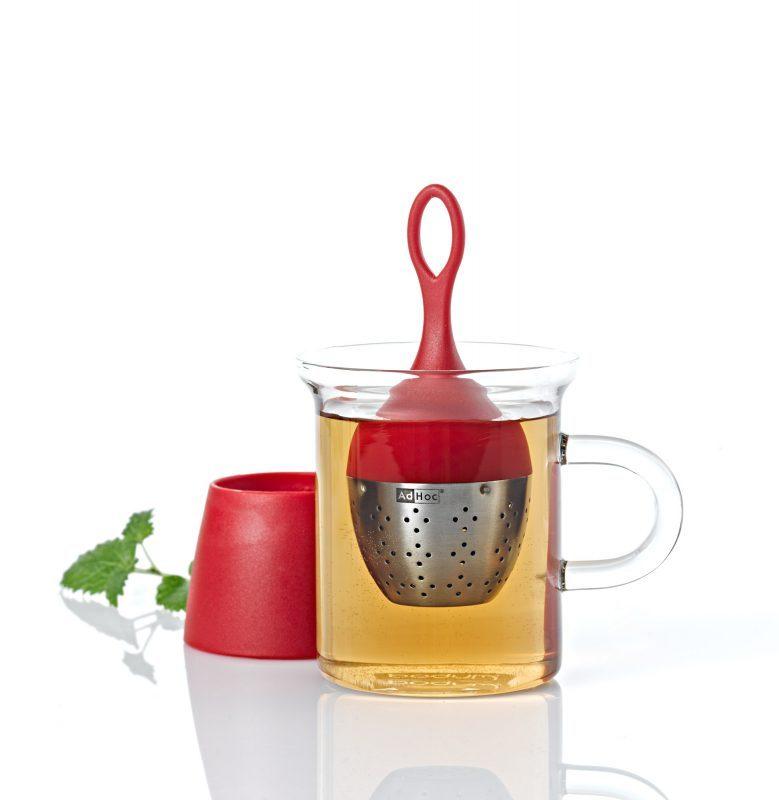 AdHoc 漂浮濾茶器 (紅)