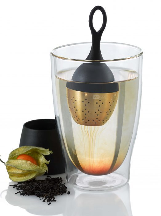 AdHoc 土豪金版漂浮濾茶器