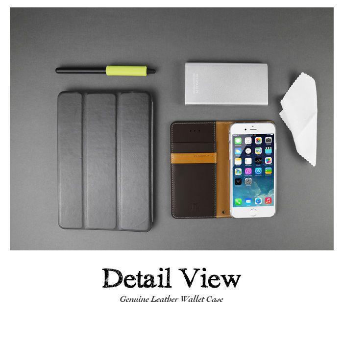 JTL iPhone 6S Plus 古著側掀式真皮皮套經典款