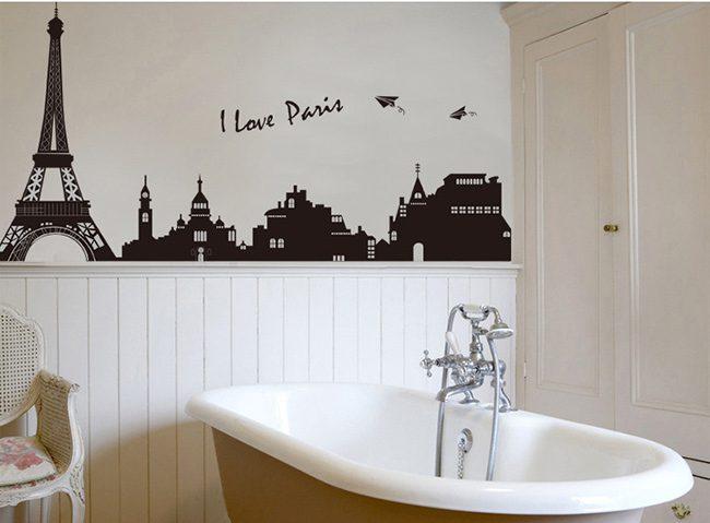 JB-Design 時尚壁貼 我愛巴黎鐵塔