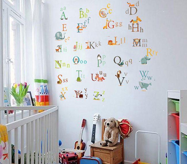 JB-Design 時尚壁貼 動物字母