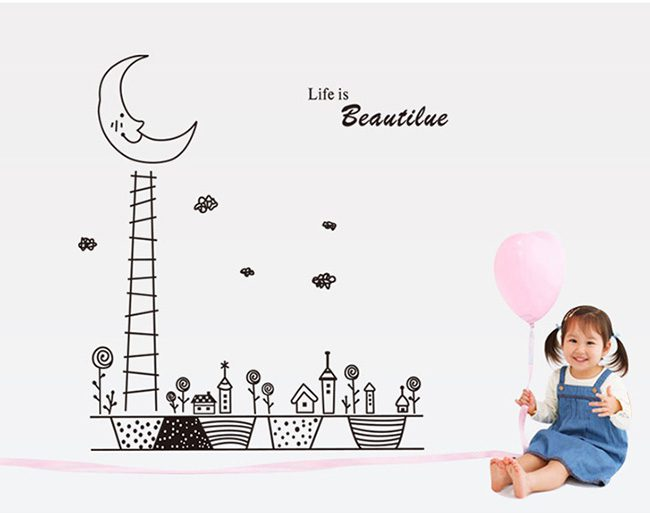 JB-Design 時尚壁貼 月亮燈塔